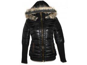 Dámský černý šusťákový kabát s kapucí GATE S / 36