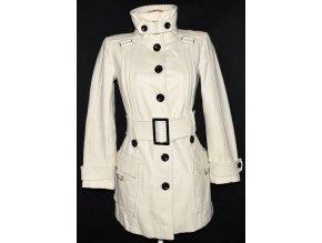 Vlněný dámský smetanový kabát s páskem ZARA S
