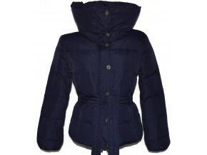 Péřový dámský fialový kabát na zip TIMEOUT M, XL