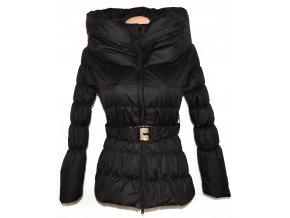Vlněný dámský černobílý melírovaný kabát s páskem AMISU 34 - Coat ... 97b077a374