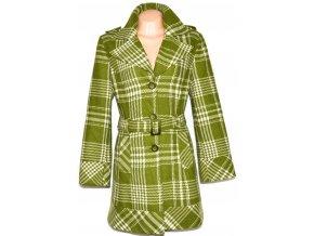 Dámský zelený kabát s páskem Paola Sormani XL - 46