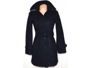 Vlněný dámský modrý kabát s páskem TOM TAILOR XS