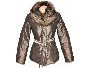 Dámský šusťákový zlatý kabát s páskem Cherokee M