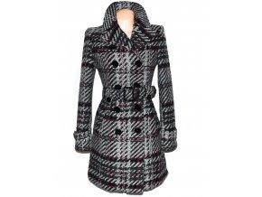Vlněný dámský šedý kabát s páskem ORSAY