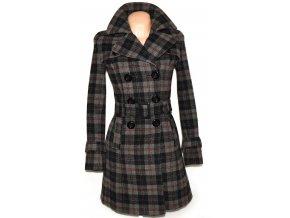 Dámský šedočerný kabát s páskem ORSAY S