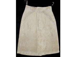 KOŽENÁ dámská broušená béžová sukně Sixth Sence 12