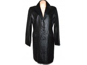 KOŽENÝ dámský dlouhý černý kabát Roy/Rene 42