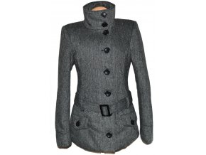 Dámský melírovaný kabát s páskem Fresh Made M, L