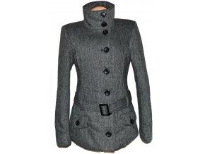 Dámský melírovaný kabát s páskem Fresh Made