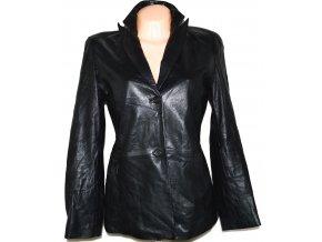 KOŽENÉ dámské černé měkké sako Marks&Spencer M/L