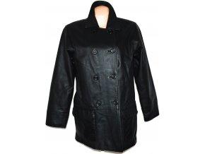 KOŽENÝ dámský měkký černý kabát Outer Edge XL