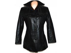 KOŽENÝ dámský černý měkký kabát GIPSY L