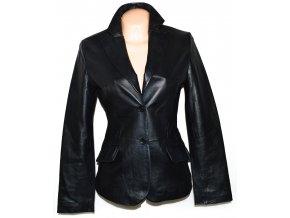 KOŽENÉ dámské černé měkké sako AMISU S