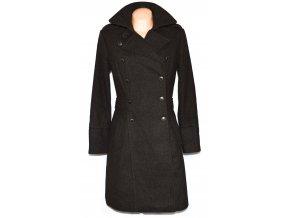 Dámský hnědý kabát s páskem TIMEOUT