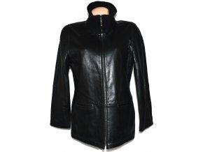 KOŽENÁ dámská černá měkká bunda na zip Mauritius L