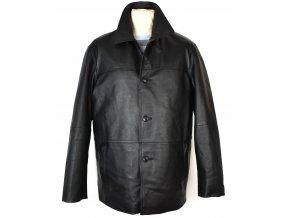 KOŽENÁ pánská měkká černá bunda s vložkou Different 58/ XXL
