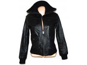 KOŽENÁ dámská černá měkká bunda na zip East Village