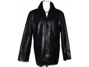 KOŽENÁ pánská černá měkká bunda Different L