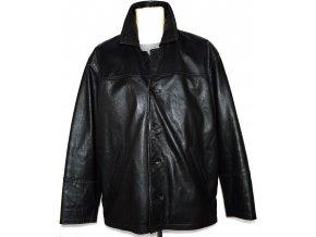 KOŽENÁ pánská černá bunda XL