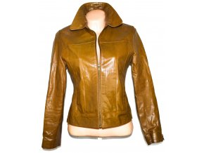 KOŽENÁ dámská hnědá bunda na zip NEW LOOK M, L