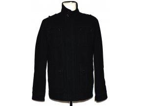 Vlněná pánská černá bunda na zip Butler & Webb S