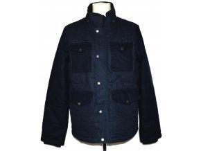 Bavlněná pánská modrá bunda na zip EASY L