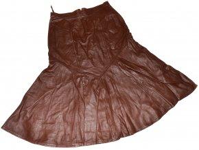 KOŽENÁ dámská hnědá sukně S