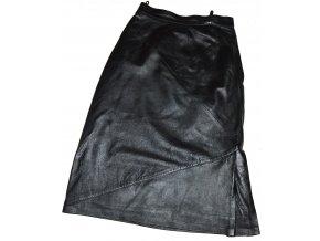 KOŽENÁ dámská černá měkká sukně 38