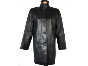 KOŽENÝ dámský černý měkký kabát CERO XXL, XXXL+
