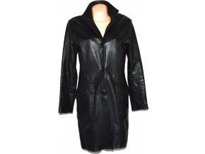 KOŽENÝ dámský černý měkký kabát Senza Max L