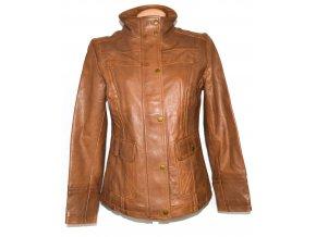 KOŽENÁ dámská hnědá měkká bunda na zip C&A L