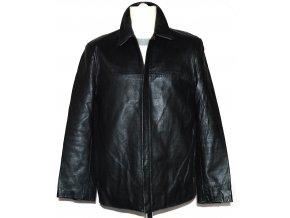 KOŽENÁ pánská černá měkká bunda na zip HELIUM M