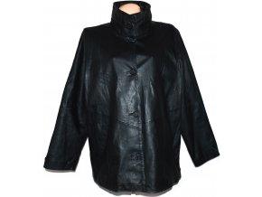 KOŽENÁ dámská černá bunda se stojáčkem JCC XXXL