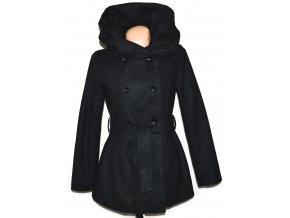 Dámský šedý kabát s páskem a límcem AMISU 38