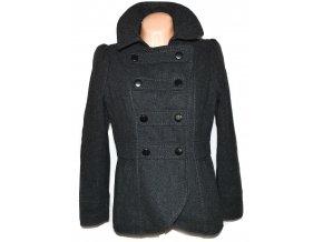 Vlněný dámský šedý kabát H&M L