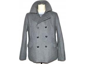 Vlněný pánský šedý zateplený kabát H&M M