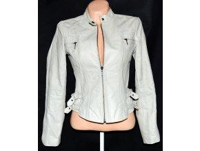 KOŽENÁ dámská bunda na zip NEXT S M 52d2a4cbce