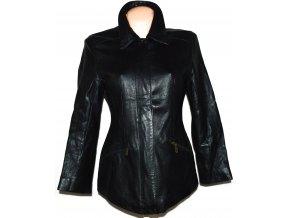 KOŽENÁ dámská měkká černá bunda na zip Principles S/M