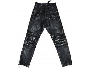 KOŽENÉ motorkářské černé kalhoty Apache UK 12