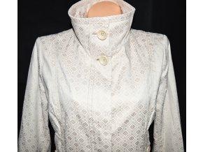 Bavlněný dámský béžový kabát s ornamenty RESERVED 40