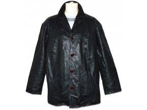 KOŽENÁ pánská černá bunda Barney's XL