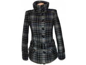 Dámský šedý zateplený kabát s páskem Fresh Made M