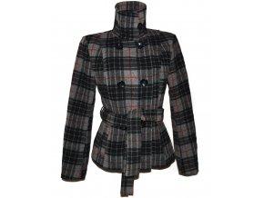 Vlněný (72%) dámský kabát s páskem C&A - YESSICA