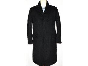 Vlněný pánský šedočerný kabát DEHAVILLAND (vlna, kašmír) M