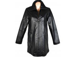 KOŽENÝ dámský černý zateplený kabát Different XL