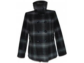 Vlněný dámský šedočerný kabát C&A - YESSICA XL