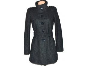 Vlněný dámský šedý kabát s páskem Dorothy Perkins M