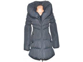 Dámský šedý šusťákový kabát s límcem ORSAY 36