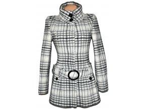 Vlněný dámský šedý kabát s páskem Jane Norman S