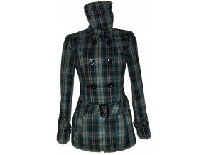 Vlněný dámský kabát s páskem Clockhouse S